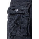 Cotton Solid Color Multi-Pockets Design Zipper Fly Straight Leg Shorts for sale