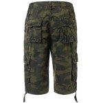 cheap Cotton Camouflage Multi-Pockets Design Zipper Fly Straight Leg Shorts