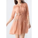 Lace Splicing Solid Color Dress
