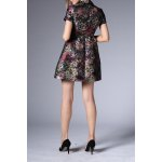 cheap Short Flare Floral Dress