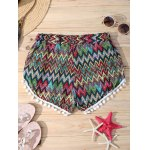 cheap Brief Zigzag Pompon Summer Shorts For Women