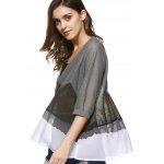 Trendy V-Neck Half Sleeves Ink Painting Print Cardigan For Women deal