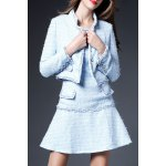 Solid Color Button Embellished Twinset Dress deal