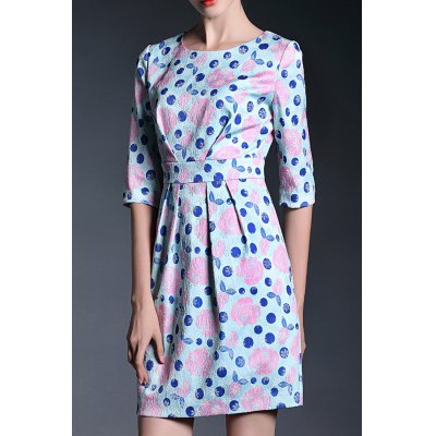 Ruched Floral Sheath Dress