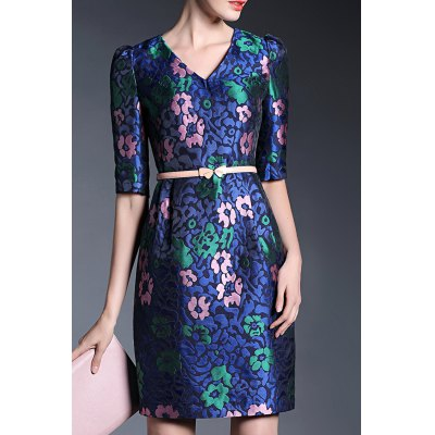 Half Sleeve Sheath Dress