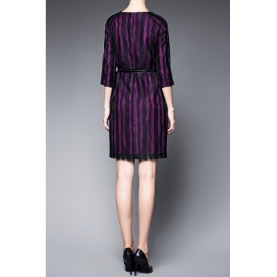 Raglan Sleeve Striped Mini DressDesigner Dresses<br>Raglan Sleeve Striped Mini Dress<br><br>Style: Casual<br>Occasion: Causal,Day,Work<br>Material: Polyester<br>Composition: 100% Polyester<br>Silhouette: Sheath<br>Dresses Length: Mini<br>Neckline: Round Collar<br>Sleeve Length: 3/4 Length Sleeves<br>Waist: Natural<br>Pattern Type: Striped<br>With Belt: No<br>Season: Summer<br>Weight: 0.360kg<br>Package Contents: 1 x Dress