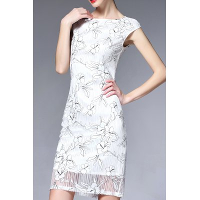 Cap Sleeve Ruched Floral Dress
