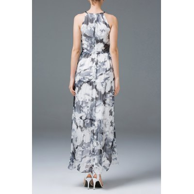 Beaded Flower Print Maxi DressDesigner Dresses<br>Beaded Flower Print Maxi Dress<br><br>Material: Cotton,Spandex<br>Fabric Type: Chiffon<br>Composition: Outer Composition:100% Chiffon&lt;br&gt;Lining Composition:5% Spandex,95% Cotton<br>Dresses Length: Ankle-Length<br>Neckline: Jewel Neck<br>Sleeve Length: Sleeveless<br>Pattern Type: Print<br>With Belt: No<br>Season: Spring,Summer<br>Weight: 0.320kg<br>Package Contents: 1 x Dress