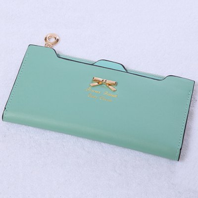 Fashion Bow and Zip Design Clutch Wallet For Women