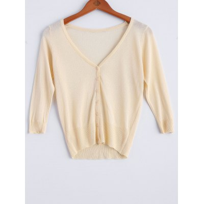 Thin Button Fly  Cardigan