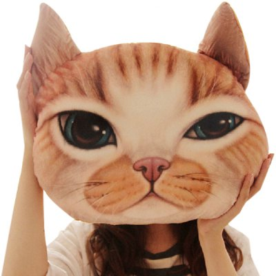 Lifelike Home Decoration 3D Cat Shape Design Detachable Pillow