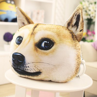 3D Akita Dog Shape Design Pillow