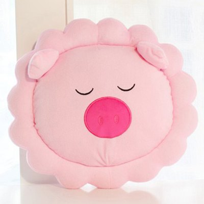 Cartoon Home Decoration Sunflower Embellished Pig Shape Design Pillow