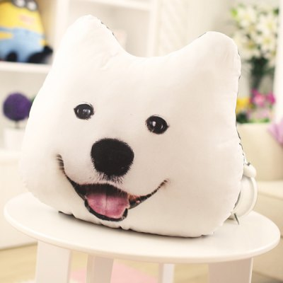 Creative 3D Samoyed Home Decoration Dog Shape Design Pillow