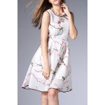 Mesh A Line Flower Embroidered Dress deal
