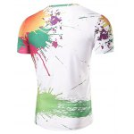 cheap Casual Short Sleeve Painting T-Shirt For Men