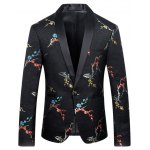 Flower Printed Casual Suit For Men