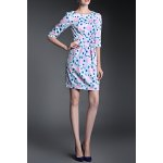 Ruched Floral Sheath Dress for sale