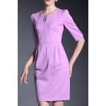 Solid Color 1/2 Sleeve Dress for sale