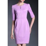 Solid Color 1/2 Sleeve Dress deal