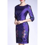 Sheath Ruched Floral Dress deal