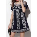 Flower Embroidered See Through Dress deal