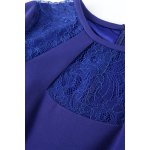 best Sheer Lace Splicing Bodycon Dress
