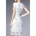 cheap Cap Sleeve Ruched Floral Dress