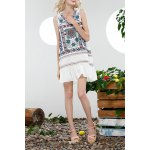 Loose Embroidery Flounce Ruffles Dress for sale