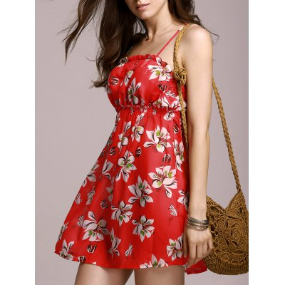 Stylish Cami Full Tiny Floral Women's Dress