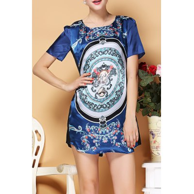Casual Style Print Dress
