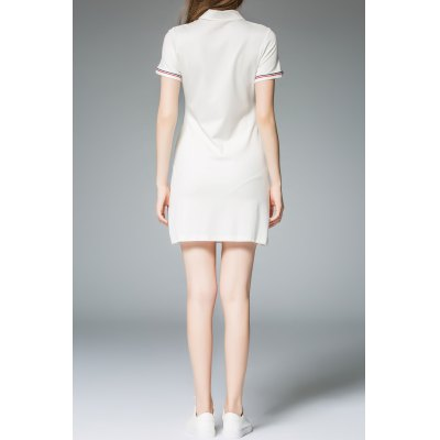 Polo Collar Single Breasted T-Shirt DressMidi-Dress<br>Polo Collar Single Breasted T-Shirt Dress<br><br>Style: Casual<br>Occasion: Causal,Day<br>Material: Cotton,Nylon,Spandex<br>Composition: 65% Cotton,30% Nylon,5% Spandex<br>Silhouette: Straight<br>Dresses Length: Mini<br>Neckline: Polo Collar<br>Sleeve Length: Short Sleeves<br>Embellishment: Pockets<br>Pattern Type: Solid<br>With Belt: No<br>Season: Summer<br>Weight: 0.370kg<br>Package Contents: 1 x Dress