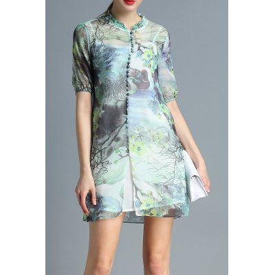 Cami Dress and Scenery Print Dress Twinset