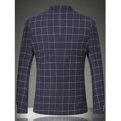 Plaid Lapel Long Sleeve One Button Design Blazer For MenMens Blazers<br>Plaid Lapel Long Sleeve One Button Design Blazer For Men<br><br>Material: Cotton,Polyester<br>Clothing Length: Regular<br>Sleeve Length: Long Sleeves<br>Closure Type: Single Breasted<br>Weight: 0.850kg<br>Package Contents: 1 x Blazer
