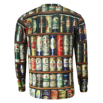 Stylish Round Collar Jar Printed Sweatshirt For MenMens Hoodies &amp; Sweatshirts<br>Stylish Round Collar Jar Printed Sweatshirt For Men<br><br>Material: Cotton Blends<br>Clothing Length: Regular<br>Sleeve Length: Full<br>Style: Fashion<br>Weight: 0.370kg<br>Package Contents: 1 x Sweatshirt