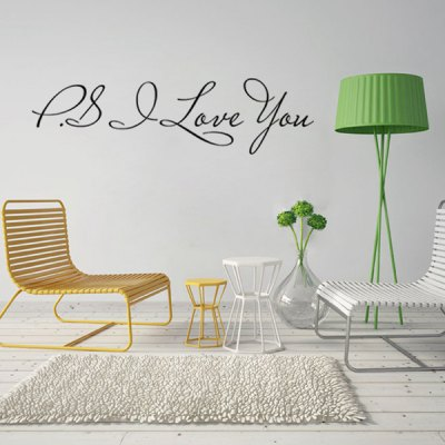 Letters Home Decoration Removable Wall Art Sticker