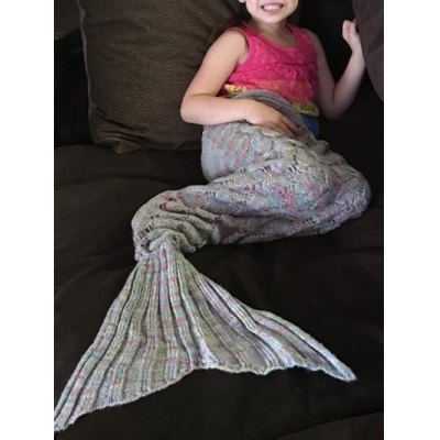 Multicolored Mermaid Knitted Blankets and Throws Patterns