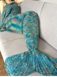 Fashion Crochet Knitted Super Soft Mermaid Tail Shape Blanket For Adult
