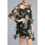 Asymmetric Floral Ruffled Dress deal
