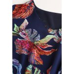 best V Neck Ruched Floral Dress