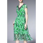 Beaded Silk Floral Dress deal