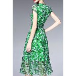 cheap Beaded Silk Floral Dress