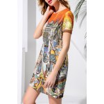 Round Neck Printed Dress deal