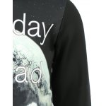 Stylish Fleece Round Collar Letter Printed Sweatshirt For Men for sale