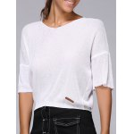 Drop Shoulder  Cropped Knitted Top