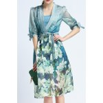 Cami Dress and Floral Print Belted Dress Twinset
