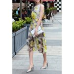 Floral Chiffon A Line Swing Dress deal