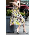 Floral Chiffon A Line Swing Dress for sale