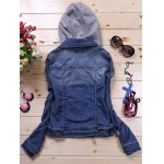 best Detachable Hooded Short Buttoned Jacket