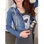 cheap Detachable Hooded Short Buttoned Jacket